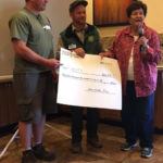 Gayle Higgs presenting check for volunteer service to the FS by BCHCAZ